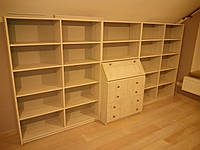 Библиотека с секретером. Мебель на заказ.