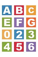 Магнитные буквы и цифры Английские, 36шт