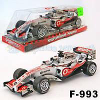 """Машина батар F993 (418343R) (72шт/2)""""Формула-1"""" рус.песня, под слюдой 27,5*11*8,5см"""