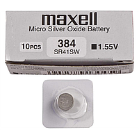 Часовая батарейка Maxell SR41SW-B1 (384) 1x1
