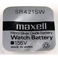 Часовая батарейка Maxell SR421SW Euro 10 штук