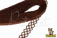 Кринолин (регилин) мягкий с рисунком Шоколадный 2 см 1 м