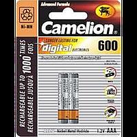 Аккумуляторы camelion r 03 2bl 600 mah ni-mh (nh-aaa600bp2)