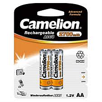 Аккумуляторы camelion r 6 2 штуки 2700 mah ni-mh (nh-aa2700bp2)