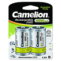 Аккумуляторы camelion r20 2 штукиl 4500 mah ni-Сd (nc-d4500bp2)