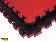 """Мат-татамі Ланор """"ластівчин хвіст"""" 80 кг/м3 20мм червоно-чорний, фото 2"""