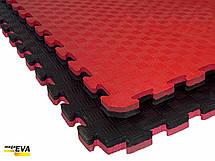 """Мат-татамі Ланор """"ластівчин хвіст"""" 80 кг/м3 20мм червоно-чорний, фото 3"""