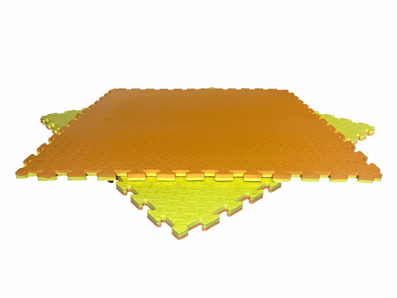 """Мат-татами  """"ласточкин хвост"""" 80 кг/м3 20мм оранжево-желтые Т1"""