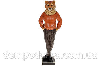 Статуетка Тигр в шарфі 37.5 см, колір - теракотовий Символ 2022 року.