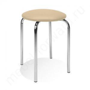 Табурет хромированный с сиденьем Чико Хром, фото 2