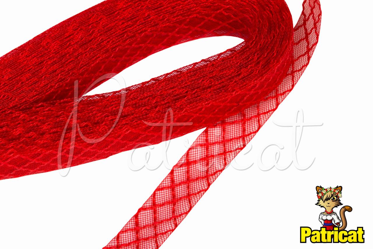 Кринолин (регилин) мягкий с рисунком Красный 2 см 1 м