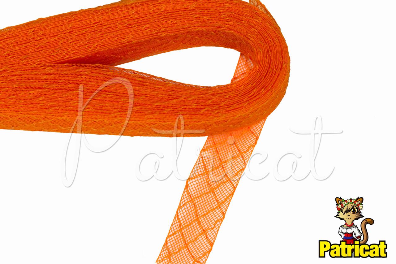 Кринолин (регилин) мягкий с рисунком Оранжевый 2 см 1 м
