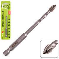 """Alloid. Свердло по склу та кераміці QUADRO 5мм, хвостовик HEX 1/4"""", L= 95mm (GB-20005)"""