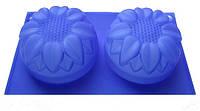 Силиконовая форма для мыла 2-01 Подсолнух 2 шт., 7 см