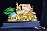 Кролики, книга, капуста 38х52