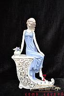 Дама в голубом платье 063 30х14