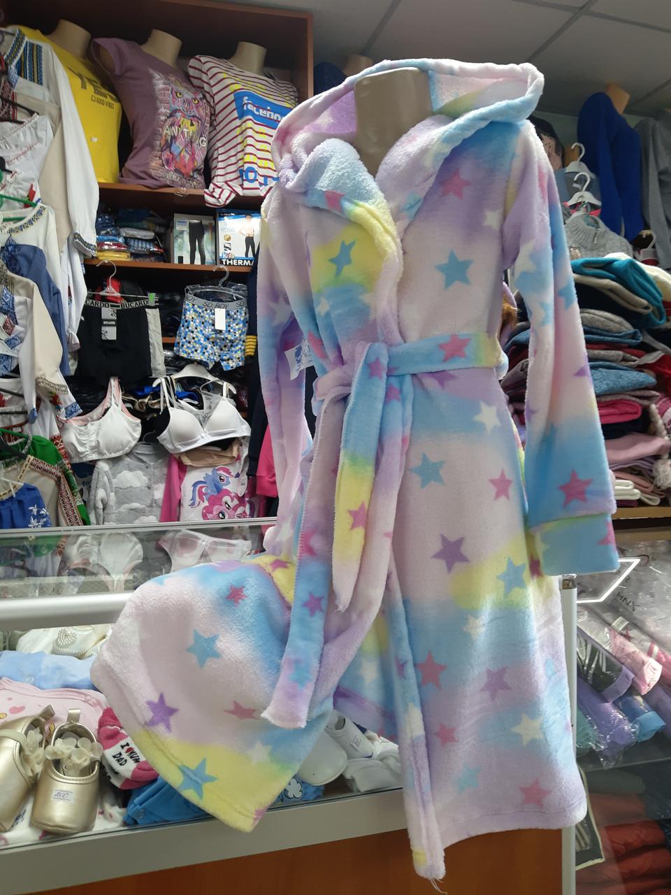 Підлітковий махровий халат для дівчинки р. 134 - 170
