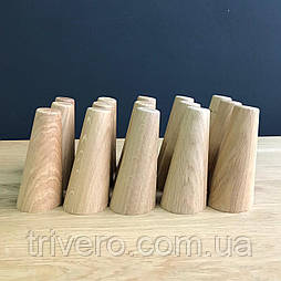 Меблева ніжка з дерева конусна під кутом, мінімальна Н. 120