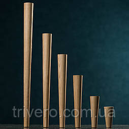 Ніжки для меблів конусні, опори дерев'яні H. 600 D. 45-25