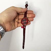 Стильные красные наручные часы женские. С блестящим ремешком. В чехле. OW-901 Модель 41794