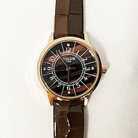Стильные коричневые наручные часы женские. С блестящим ремешком. В чехле. PV-473 Модель 27687