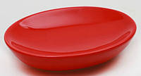 Мыльница керамическая, цвет красный