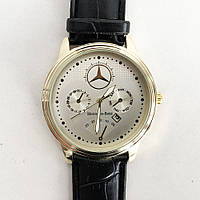 Часы наручные Mercedes White ремешок AX-688 черный (реплика)
