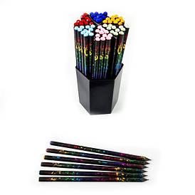 Олівець графітний HB №ST-6149-D пластиковий круглий корпус зі стразами