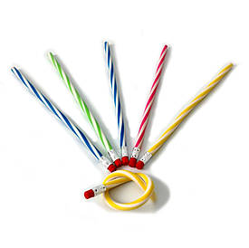 Гнучкий простий олівець пластиковий 20см №OL-20 12шт