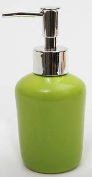 Дозатор керамический для жидкого мыла/лосьона, цвет зеленый