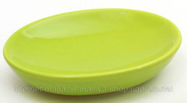 Мыльница керамическая, цвет зеленый