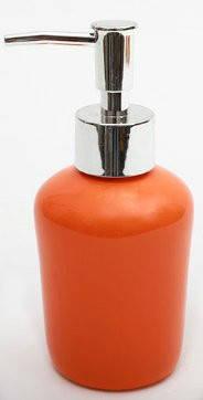 Дозатор керамический для жидкого мыла/лосьона, цвет оранжевый