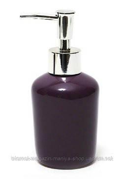 Дозатор керамический для жидкого мыла/лосьона, цвет баклажан
