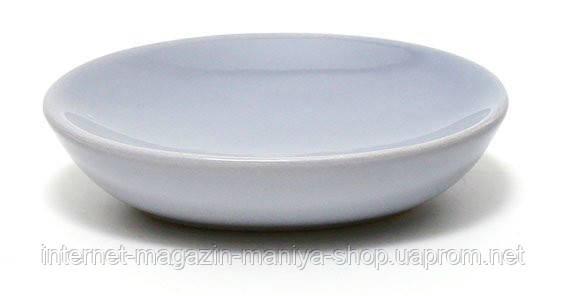 Мыльница керамическая, цвет серый
