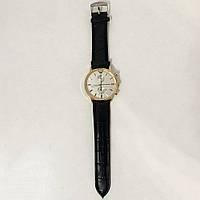 Часы наручные Emporio Armani Black ремешок черный, циферблат QB-612 -светный (реплика)