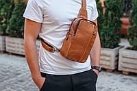 Чоловіча шкіряна сумка-месенджер Tiding Bag M3-810A коричнева, фото 1