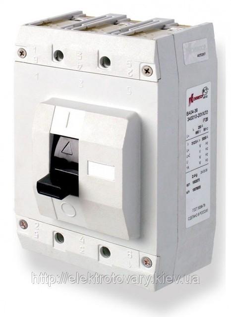 Автоматические выключатели ВА 04-36 400А