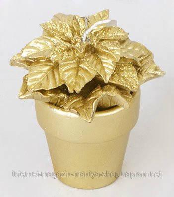 Декоративная свеча в керамическом горшочке