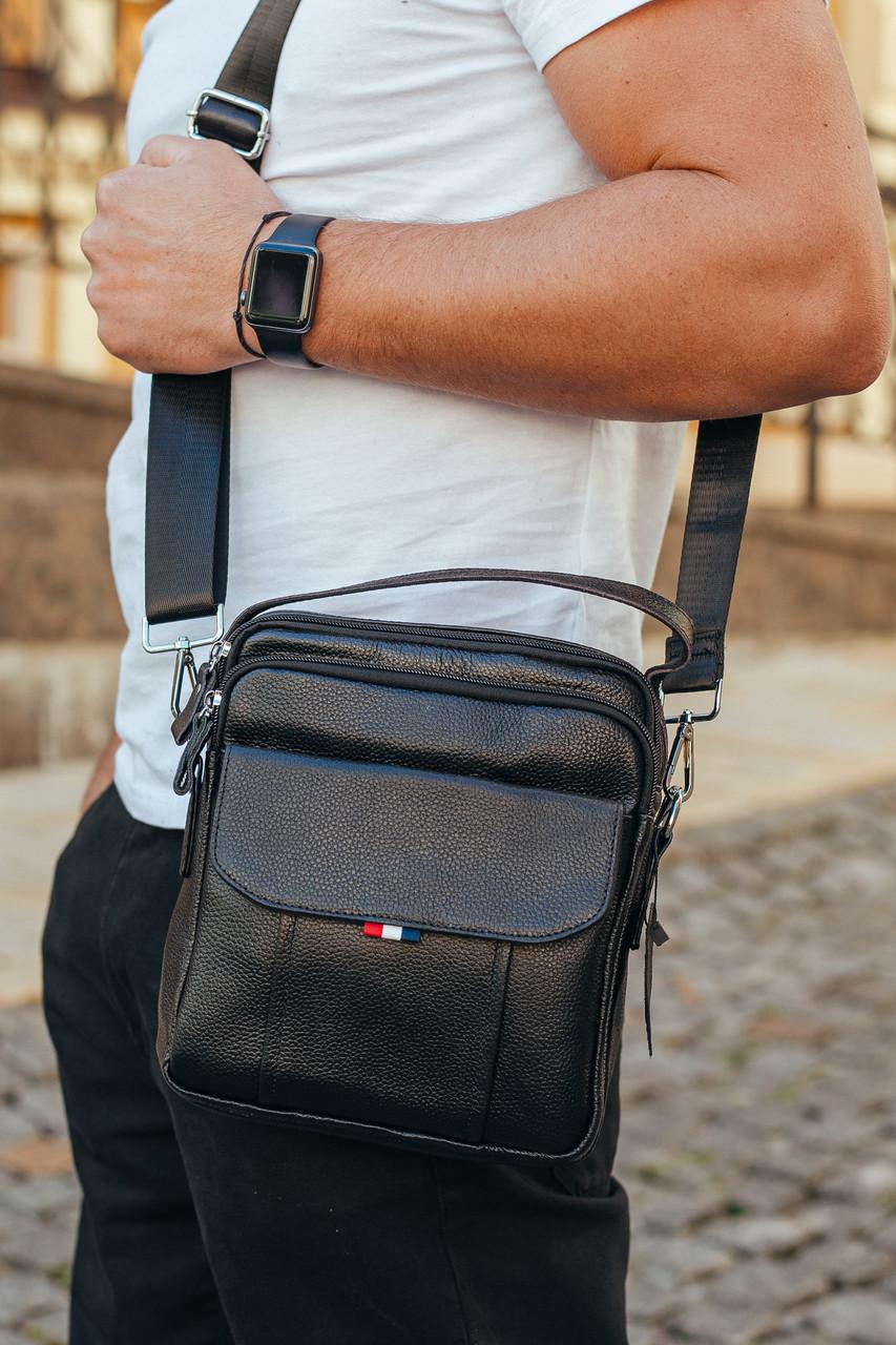 Мужская кожаная сумка Keizer K13657-black