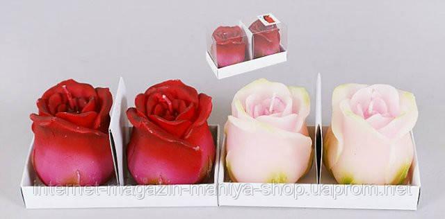 Набор свечей 2шт Роза