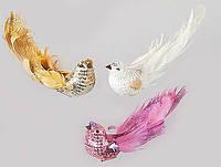 Декоративная птица с клипсой