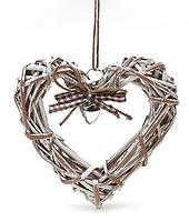 Декор подвесной Сердце, лоза натуральная