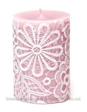 Свеча декоративная 10см (280г) Кружево