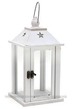 Подсвечник деревянный в форме фонаря