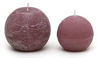 Свеча в форме шара 10см, цвет - сливовый