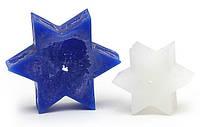 Свеча звезда 13см, цвет - кобальтовый синий