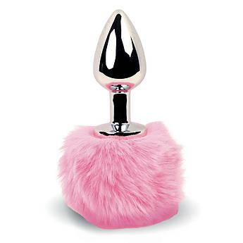 Анальна пробка FeelzToys - Bunny Tails Butt Plug Pink
