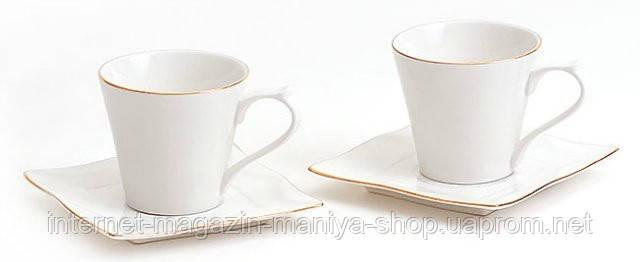 Набор: 2 чашки + 2 блюдца