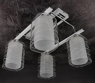 Люстра стельова на 4 лампочки 126/4-wh Білий 29х37х39 див.