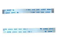 Шлейф сверхплоский, 22-контактов, шаг 0,5мм (L-KLS17-FFC-0.5-22P-L70MM)